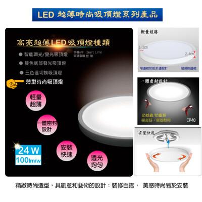 【好其特】LED 24W超薄時尚吸頂燈(