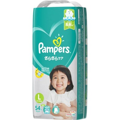 pampers全新幫寶適巧虎紙尿布(黏)l54片(每箱/4包)(全日文包裝) (9.1折)