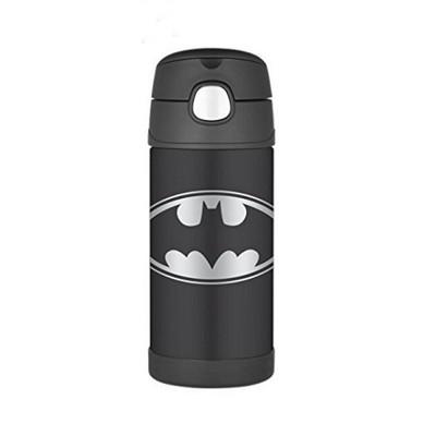 美國 THERMOS 膳魔師 不銹鋼保溫瓶 吸管水壺 兒童水杯 新款提把-蝙蝠俠 (6.8折)