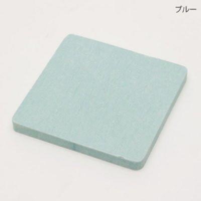 日本原裝進口 HIRO 珪藻土 方形杯墊 硅藻土 快速吸濕 硅藻土 5入一組-藍色 (1.6折)