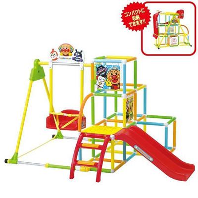 日本進口 麵包超人 Anpanman 兒童玩具 兒童組合溜滑梯 攀爬組 盪鞦韆 2016最新款 (7折)