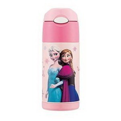 台灣公司貨 THERMOS 膳魔師兒童水杯 不銹鋼保溫瓶 新款(附背帶+備用吸管一組)-冰雪 (7.3折)
