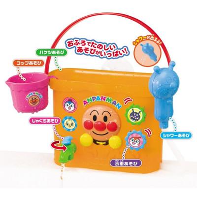 日本進口 麵包超人 Anpanman 洗澡水桶 玩具 蓮蓬頭 水龍頭 知育 五種玩法 (7.6折)