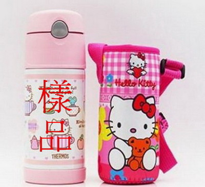 THERMOS 膳魔師 不銹鋼保溫瓶 吸管水壺 兒童水杯 水壺背帶-Hello Kitty (7.4折)
