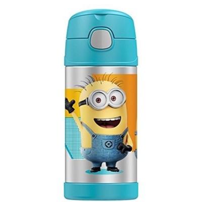 美國 THERMOS 膳魔師 不銹鋼保溫瓶 吸管水壺 兒童水杯 新款提把-小小兵 (6.8折)