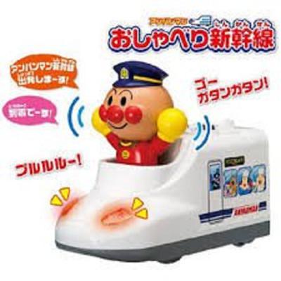 日本進口正版 Anpanman 麵包超人 新幹線玩具 聲光車車玩具 (8.3折)