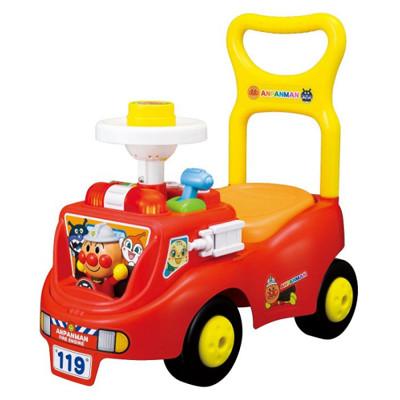 日本進口 麵包超人 Anpanman 消防車造型學步車 四輪 學步車 滑步車 玩具 (8.2折)