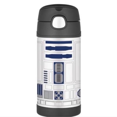 美國 THERMOS 膳魔師 不銹鋼保溫瓶 吸管水壺 兒童水杯 新款提把-R2D2 (6.8折)