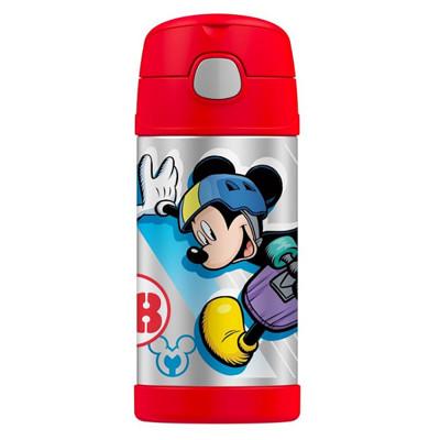 美國 THERMOS 膳魔師 不銹鋼保溫瓶 吸管水壺 兒童水杯 新款提把-紅米奇 (6.8折)