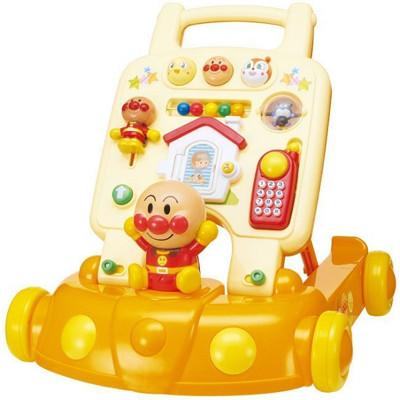 日本進口 麵包超人 Anpanman 幼兒 多功能 學步車 手推車 助步車 音樂車 玩具 (9.6折)