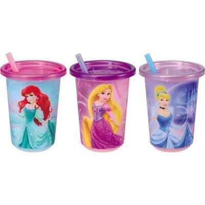 日本 Tomy 公主 吸管杯(296ml) 兒童水杯 學習杯 附蓋吸管水杯(3入1組) (8折)