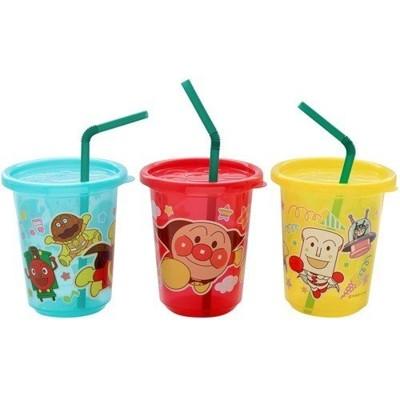 日本製 麵包超人 Anpanman 吸管杯(270ml) 兒童水杯 學習杯 附蓋吸管水杯3入1組 (6.7折)