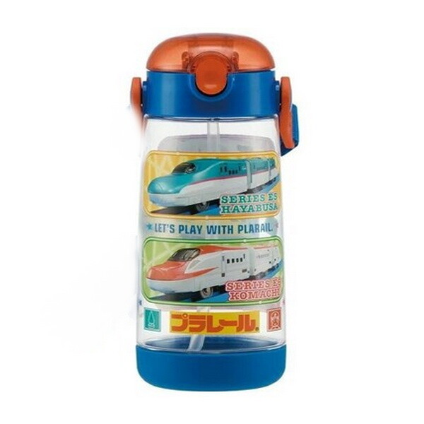 日本 skater 迪士尼 新幹線20 按壓式吸管水壺 兒童水壺pdsh5/480ml(附背帶)