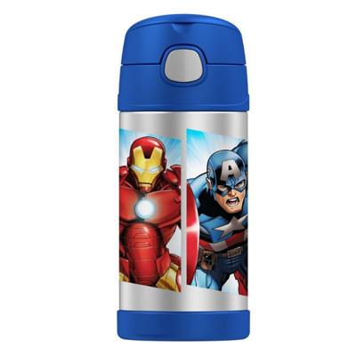 美國 THERMOS 膳魔師 不銹鋼保溫瓶 吸管水壺 兒童水杯 新款提把-復仇者聯盟 (6.8折)