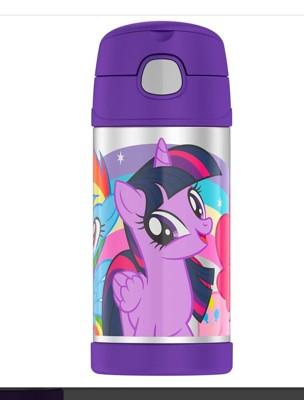 美國 THERMOS 膳魔師 不銹鋼保溫瓶 吸管水壺 兒童水杯 新款提把-彩虹小馬 (6.8折)