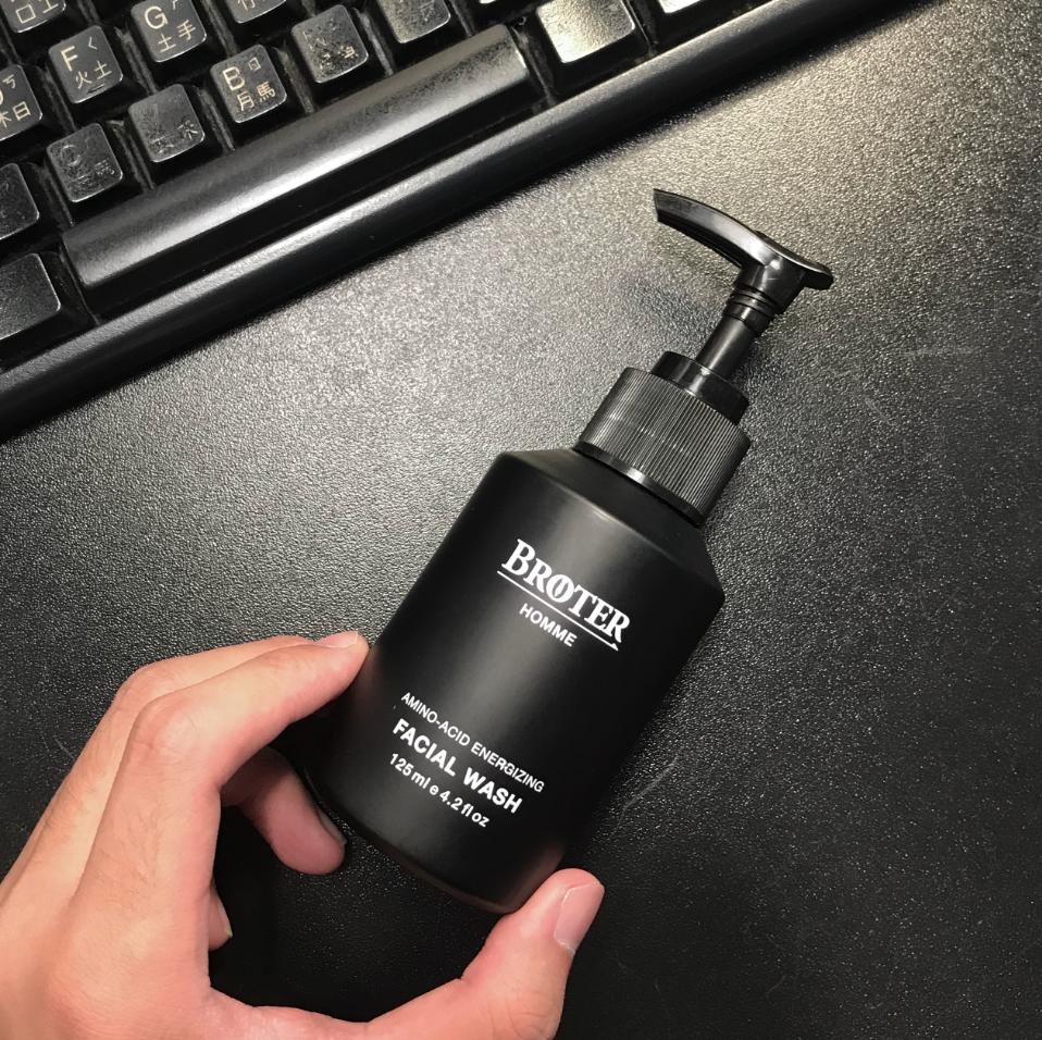 broter 無添加男士保養胺基酸活力潔面露 125ml台灣自有品牌 氨基酸洗面乳