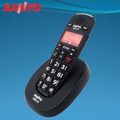 三洋SANYO 中文顯示大字鍵DECT數位無線電話(兩色)  DCT-9811 (6.8折)