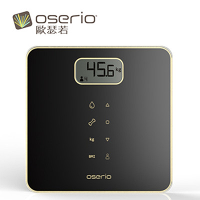 【OSERIO 歐瑟若】多功能BMI智能體重計(曜石黑) MAG-605BK (7折)