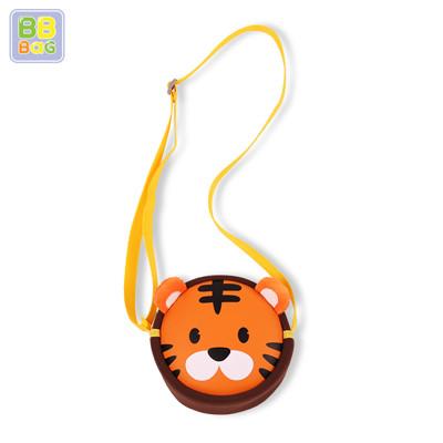 【韓國 BB BAG】可愛卡通動物斜背包(附收納袋) -老虎 (5.2折)