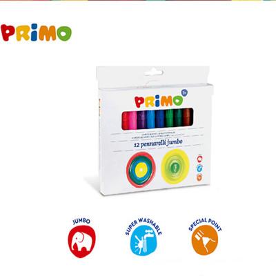 義大利 PRiMO可水洗12色粗頭彩色筆 (5.6折)