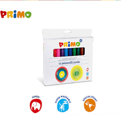 義大利 PRiMO可水洗12色粗頭彩色筆 (4.6折)