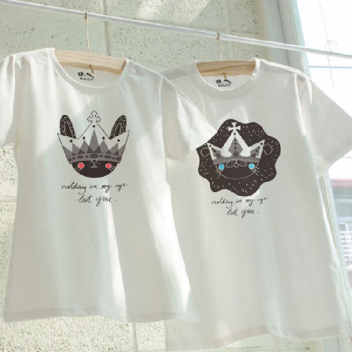 情侶裝戀愛是場華麗的鬼遮眼 純棉t-shirt 插畫家手繪款