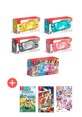 NS Nintendo SWITCH Lite 主機(任選一款)+三款熱門遊戲片(含動物森友會) (10折)