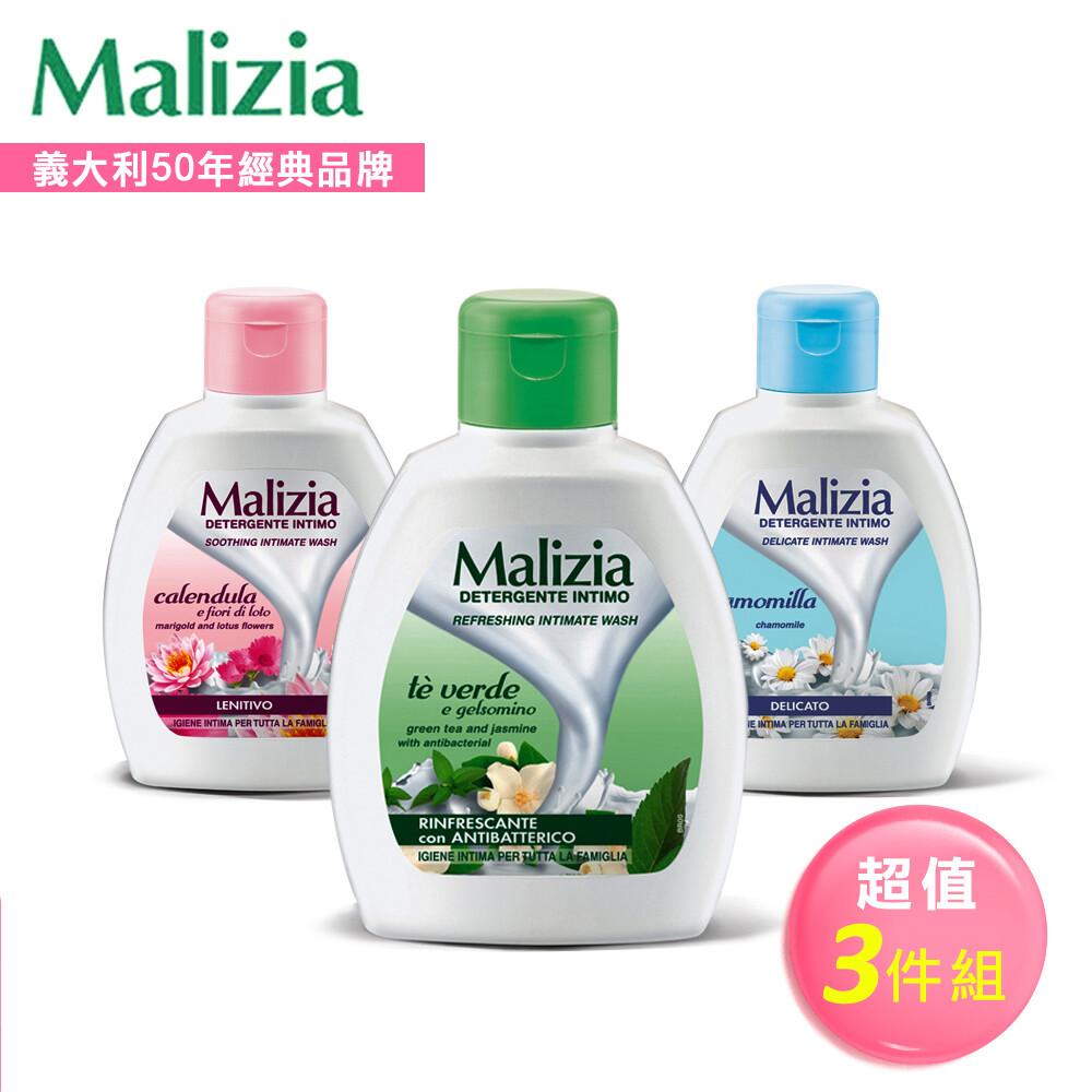 [malizia 瑪莉吉亞] 植萃香氛私密保養沐浴露ph4.0~ph5.5-200ml(全套3瓶)