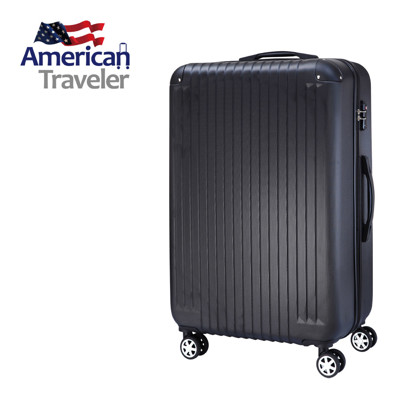 [American Traveler] ABS 超輕量菱紋抗刮行李箱29吋(尊爵黑) (4.7折)