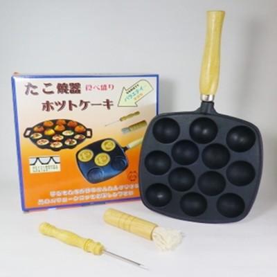 12孔鑄鐵章魚燒烤盤(送油刷及叉子) (4.1折)
