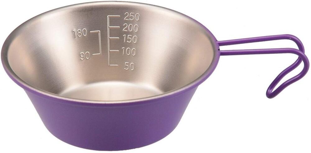 pearl彩色不鏽鋼刻度深形杯 (紫色)