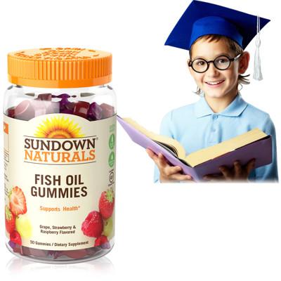 Sundown日落恩賜 兒童精明魚油QQ軟糖(50粒/瓶) (6.5折)