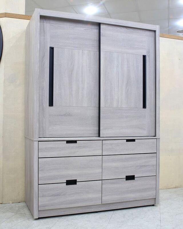 歐風別館喬伊4.5尺灰橡色六抽衣櫃基隆至台中免運費