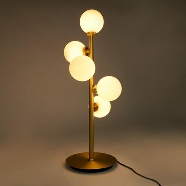 18park-金域廊道檯燈-5燈 [220v,含燈泡,沙金色]