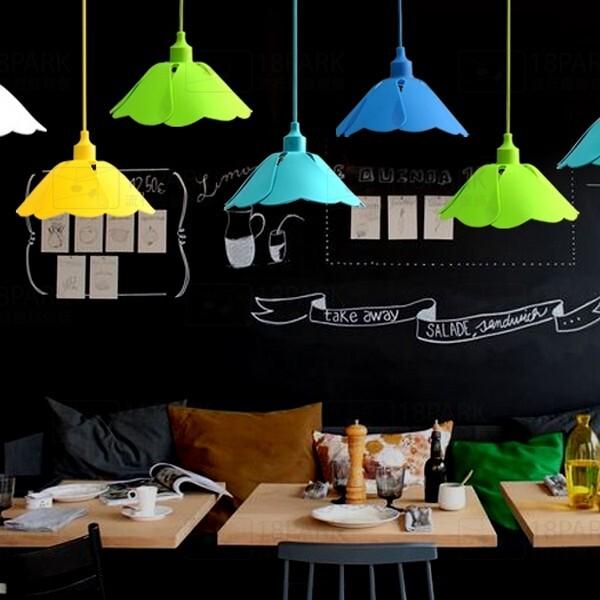 18park-果凍-葉荷吊燈 [黃色,全電壓]
