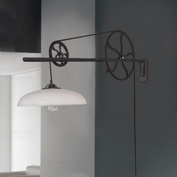 18park-圓盤與環壁燈 [鐵/玻璃,全電壓]