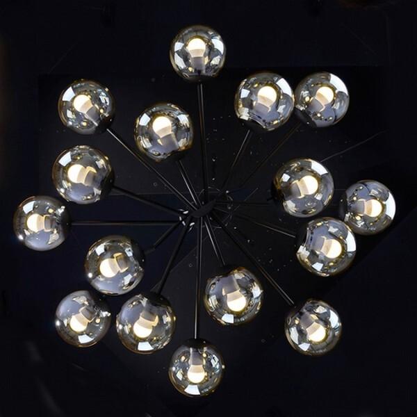 18park-展演吸頂燈-16燈 [全電壓,透明玻璃燈罩]