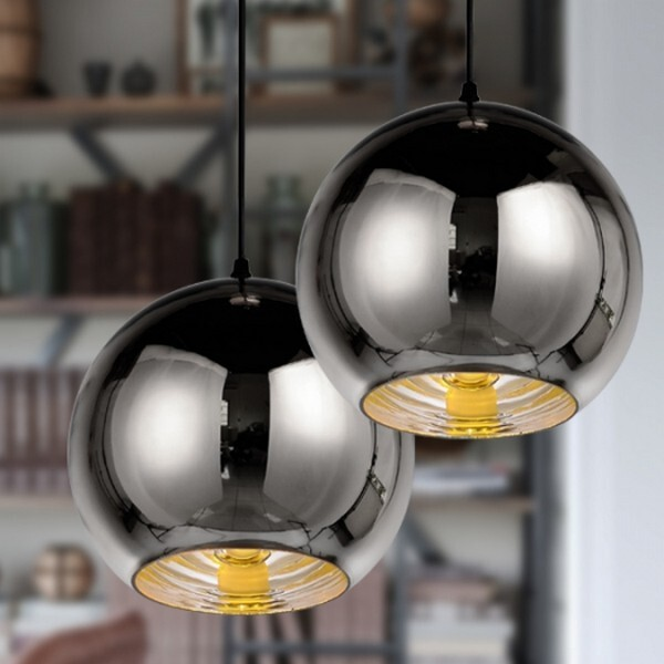 18park-鏡面球吊燈-3色 [20cm,鍍銀]
