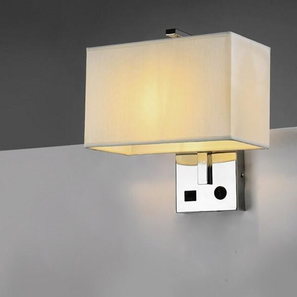 18park-充電站壁燈-usb [黑,全電壓]