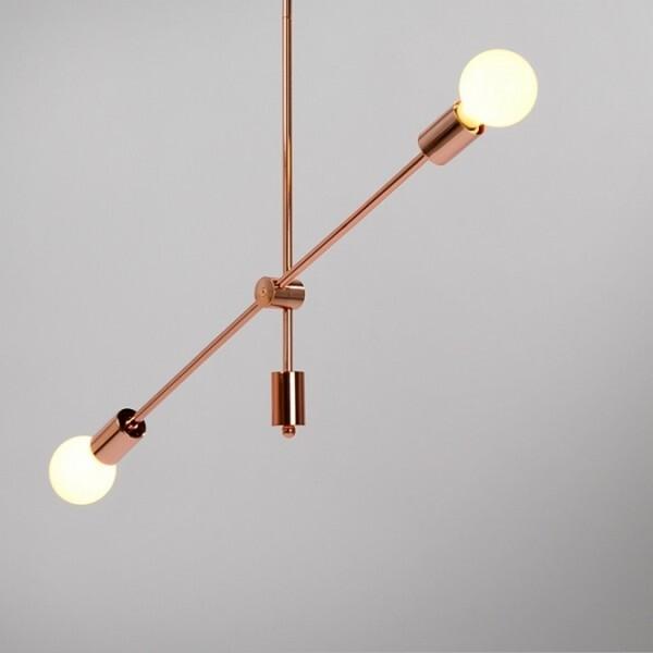 18park-平衡線吊燈-單桿 [玫瑰金,全電壓]