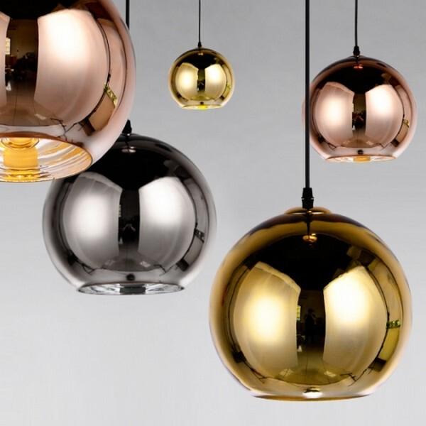 18park-鏡面球吊燈-3色 [25cm,鍍玫瑰金]