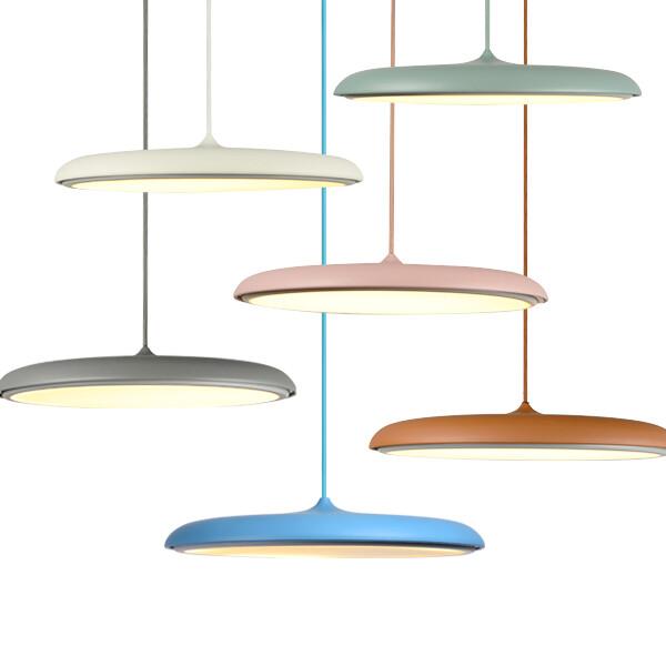 18park-彩色盤吊燈 [25cm,霧粉]