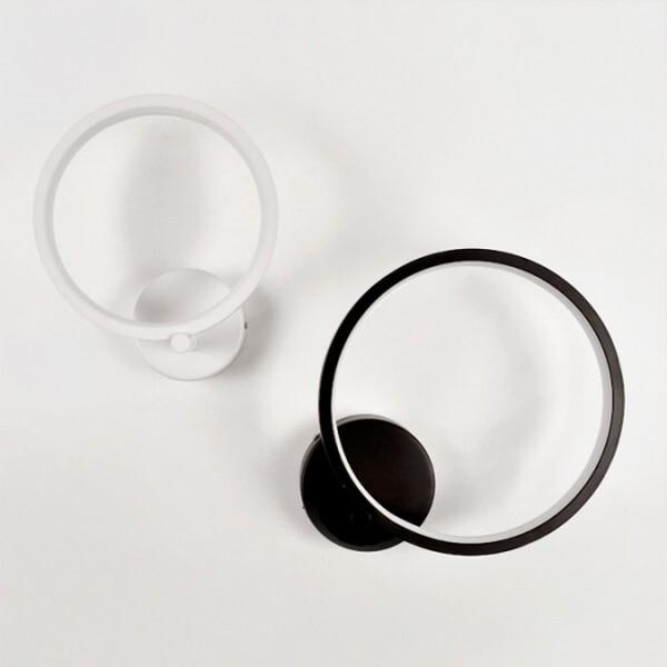 18park-圈起來壁燈 [25cm,黑色]