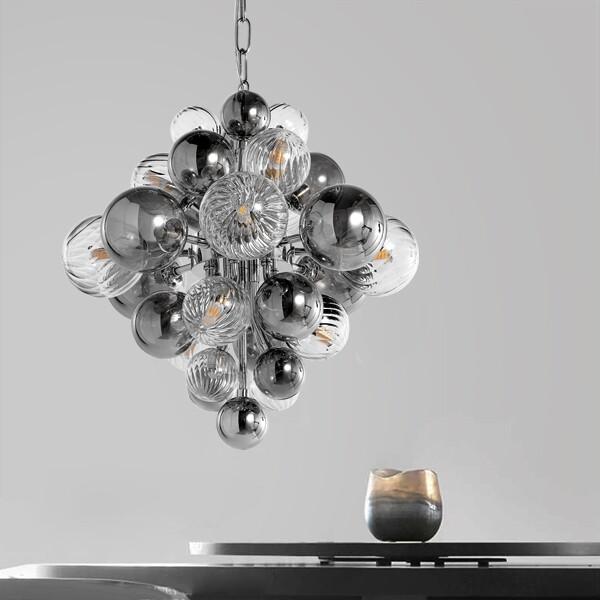18park-耀之石吊燈-40cm [透銀/透明,全電壓]