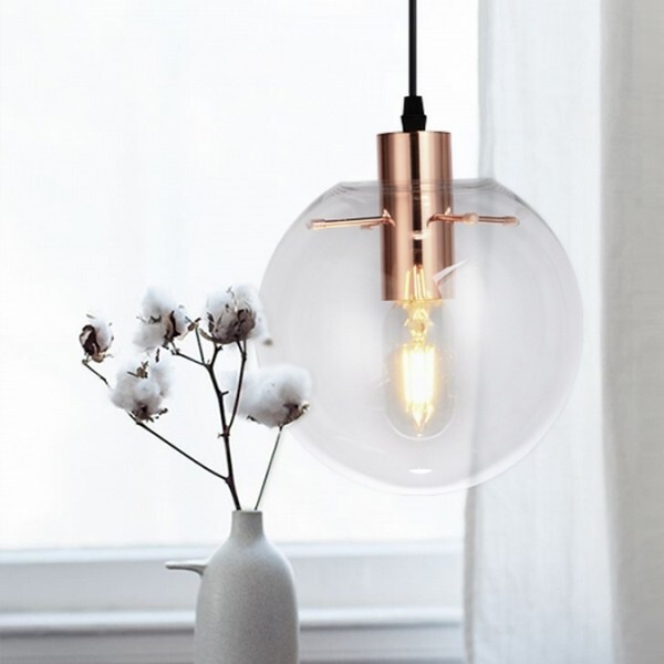 18park-td透明球吊燈(v1)-2色 [30cm,玫瑰金]