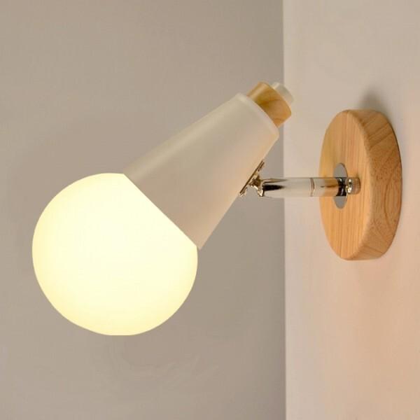 18park-初階壁燈 [金屬烤漆/木質,白色]