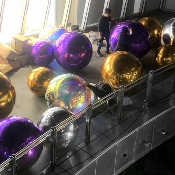 18park-魔鏡鏡面pvc氣球 [80cm,銀色]