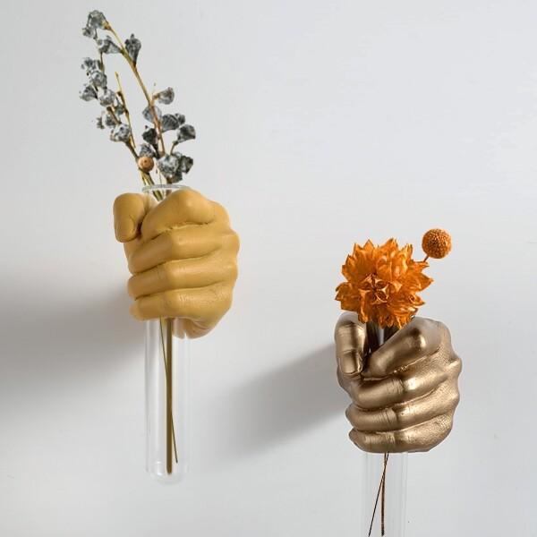 18park-獻花-花器 [環保樹脂+玻璃,金]