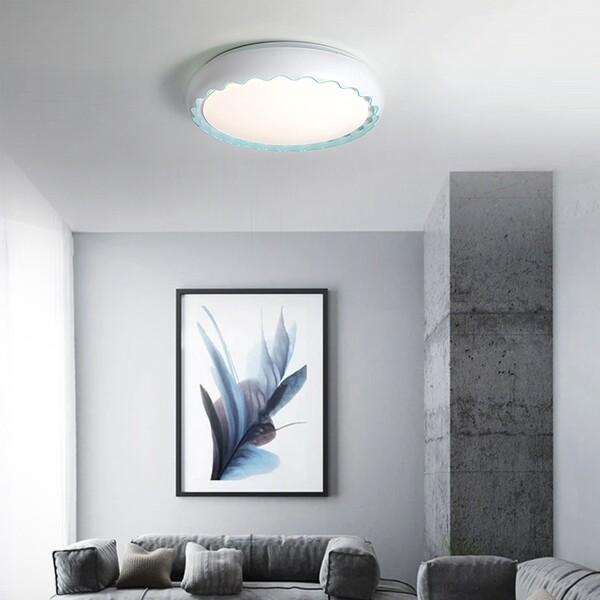 18park-微曲光吸頂燈-4色 [40cm,藍]
