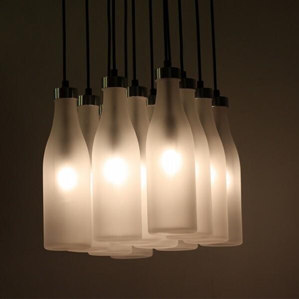18park-牛奶瓶吊燈-12燈 [大款,220v]